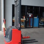used forklift linde series 1172 l10b l12as electric pallet stacker u75624 1
